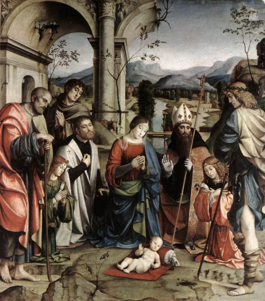 Franceso Raibollini gen. Francia: Die Anbetung des Jesuskindes
