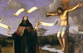 Francia Augustinus neben dem Kreuz wmc NL