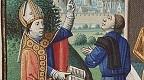 Simplicianus diskutiert mit Augustinus über die Dreieinigkeit (Maître François, um 1475-1480)