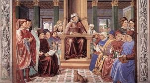 Benozzo Gozzoli: Augustinus lehrt in Rom